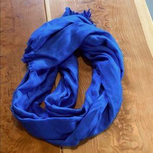 Calvin Klein blue pashmina with logo CK pattern